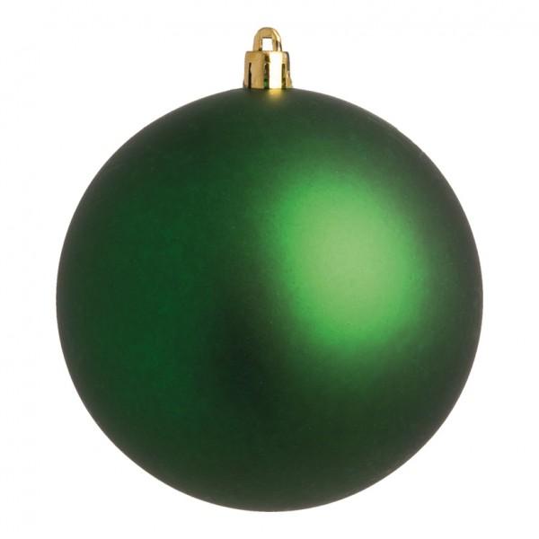 Weihnachtskugel, grün matt, Ø 10cm