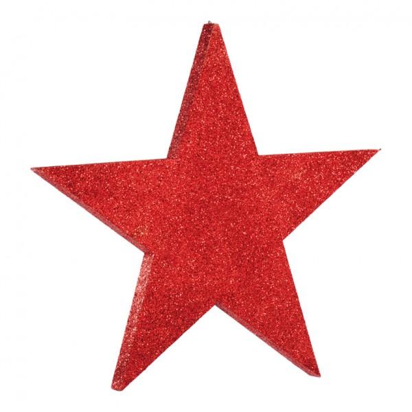 Stern, flach, 50x50cm, mit Glitter, Styrofoam