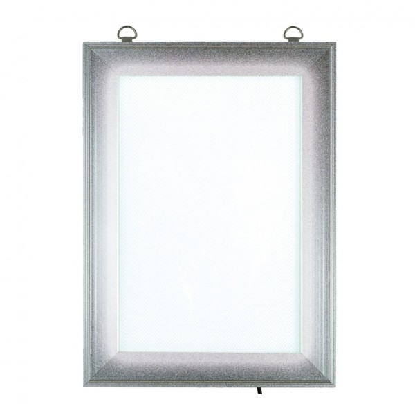 LED Klapprahmen, Maße innen: 17,5x26cm, Maße außen: 24x32,5cm, DIN A4, vorne 4-fach zu öffnen, Hoch