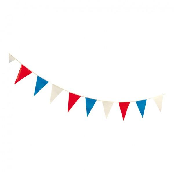 """Wimpelkette """"Frankreich"""", 27x400cm, 16-fach, wetterfest, PVC"""