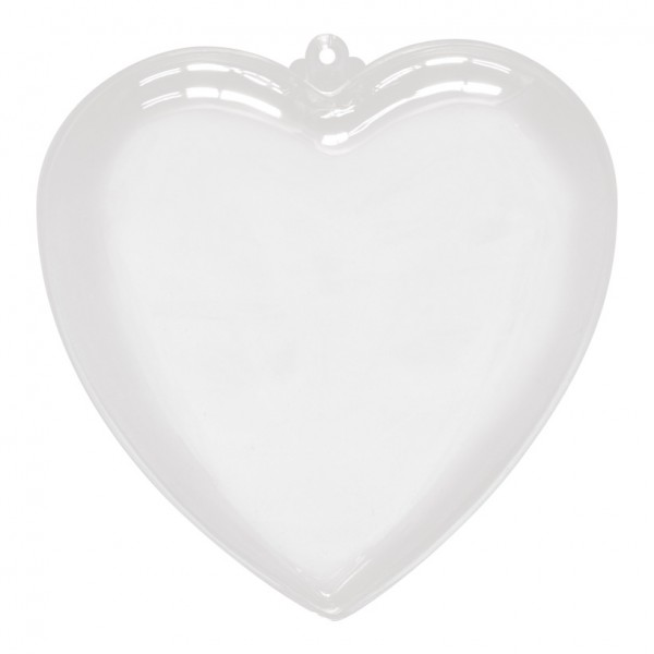 Herz, Ø 14cm, Kunststoff, 2 Hälften, zum Befüllen