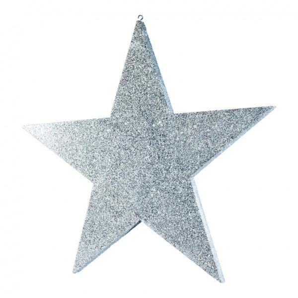Stern, flach, 90x90cm, mit Glitter, Styrofoam